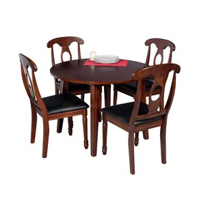 Dinh Modern 5 Piece Solid Wood Dining Set