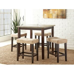 5 Piece Counter Height Dining Set by Brad..
