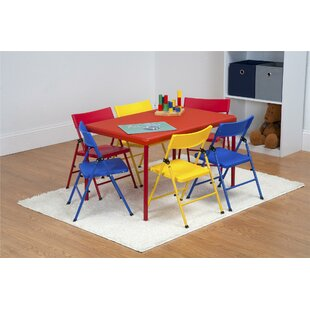 0814bb855e2 Adrian Kids 7 Piece Rectangular Table and Chair Set