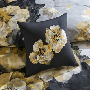 Casa Noir Embroidered Decorative Pillow