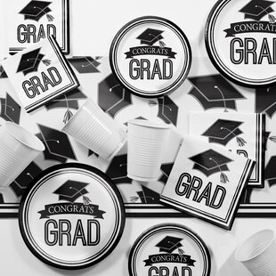 Graduation School Party Paper/Plastic Supplies Kit By Creative Converting