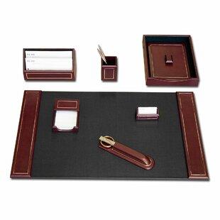 Dacasso 24KT Gold Tooling 7 Piece Desk Set