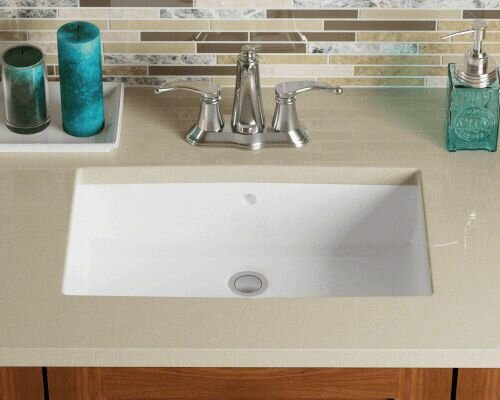 Vitreous China Rectangular Undermount Sink