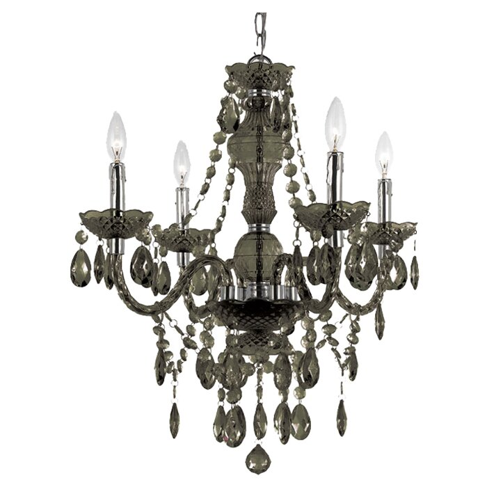chrome light finish chandelier round