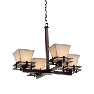 Latitude Run Red Hook 4 Light LED Square Flared Chandelier