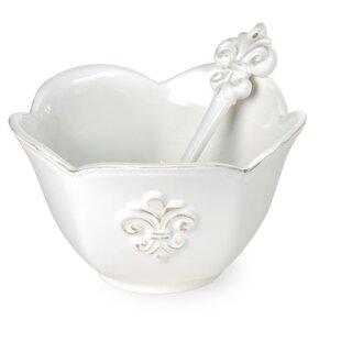 Fleur De Lis Cereal/Soup Bowl (Set of 4)