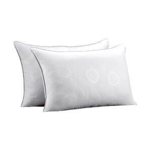 Allergen Free Rectangular Soft Gel Fiber Pillow (Set of 2) by Alwyn Home