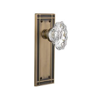 Chateau Passage Door Knob with Mission Plate by Nostalgic Warehouse