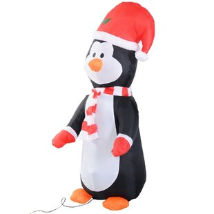 Christmas Penguin Inflatable By The Seasonal Aisle