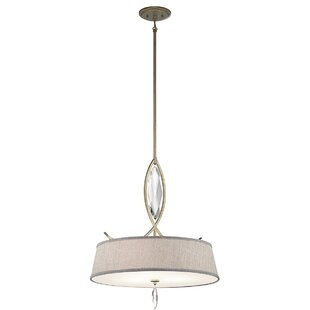 Willa Arlo Interiors Brookline 3-Light Drum Pendant