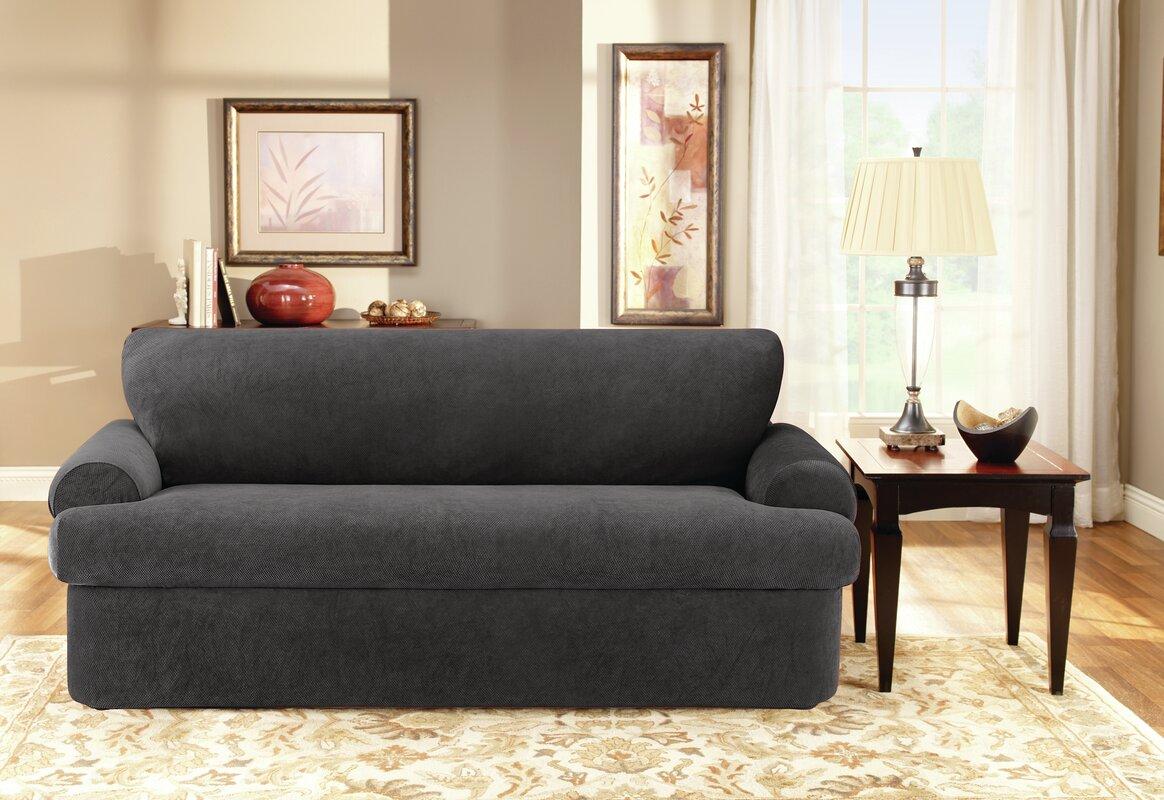 T-Cushion Sofa Slipcover Set