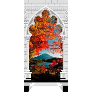 Gothic Arch and Mount Fuji I Door Wall Mural by East Urban Home