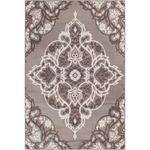 Reviews Sattler Gray/White Indoor/Outdoor Area Rug By Charlton Home