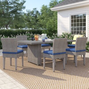 Kenwick 7 Piece Outdoor Patio Dining Set with Cushions