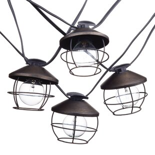 Pinkston 10 ft. 10-Light Shaded String Light