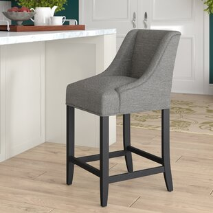 Aahil Eclectic Chenille Center 25 Bar Stool Alcott Hill