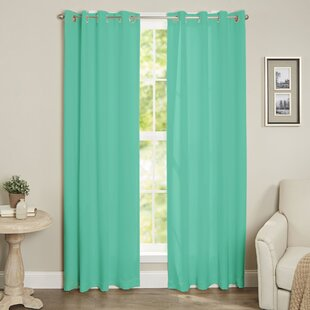 Diannah Insulated Solid Blackout Thermal Grommet Window Curtain Panel by Ebern Designs