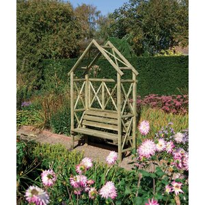 2-Sitzer Gartenbank Diamond aus Holz von Rowlins..