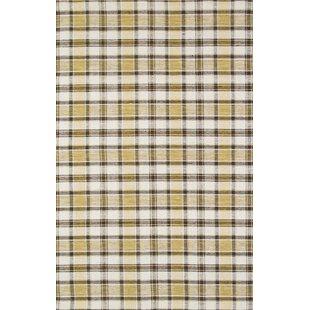 Kilim Hand-Woven Yellow/Black Area Rug Pasargad