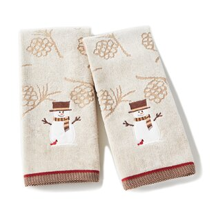 Bragg Snowman Cotton Hand Towel (Set of 2)