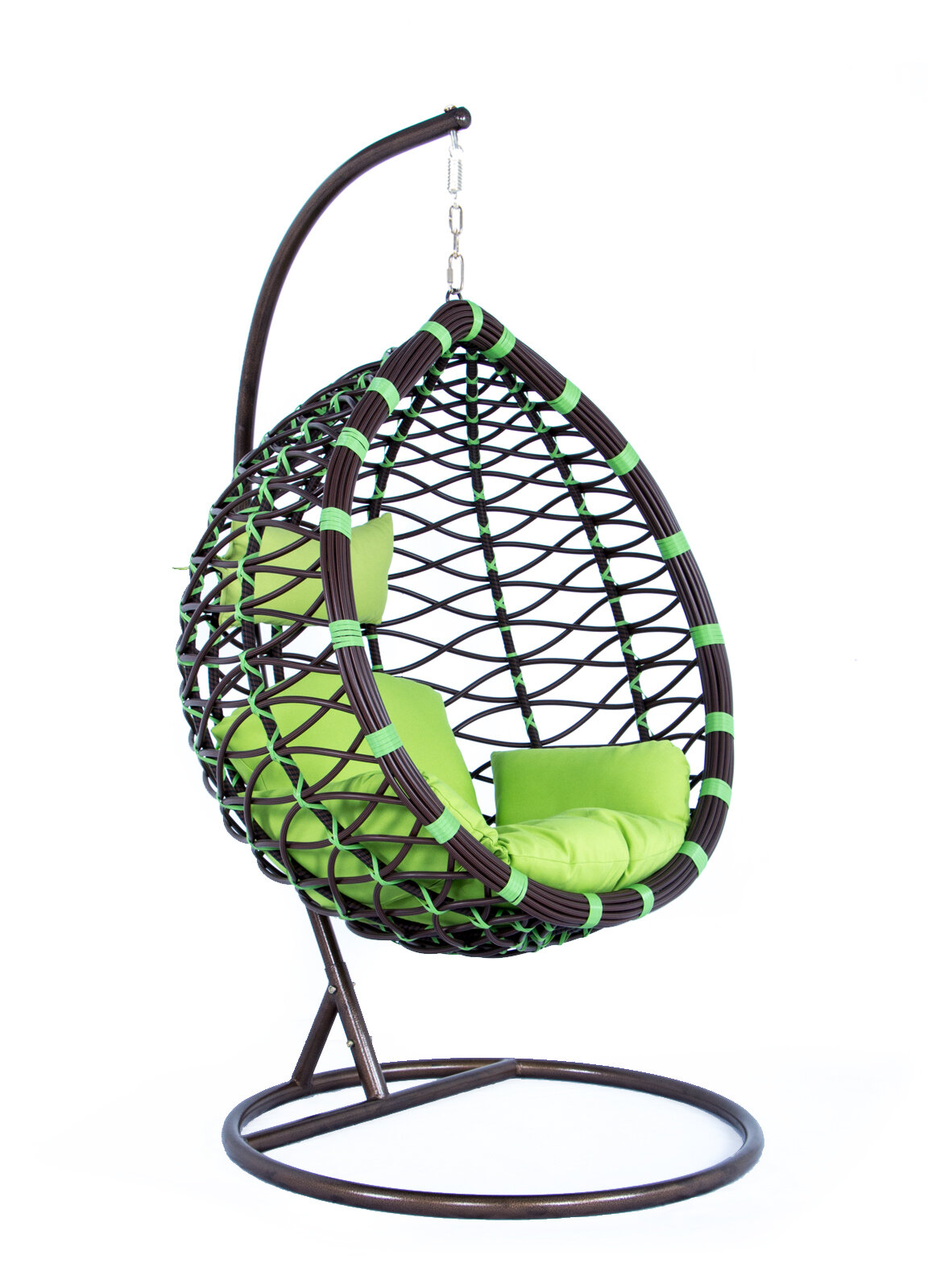 Bayou Breeze Schwartz Wicker Hanging Egg Swing Chair With Stand