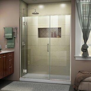 DreamLine Unidoor-X 48 1/2-49 in. W x 72 in. H Frameless Hinged Shower Door