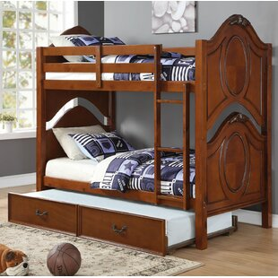Price comparison Dowson Twin over Twin Bunk Bed with Trundle by Harriet Bee Reviews (2019) & Buyer's Guide
