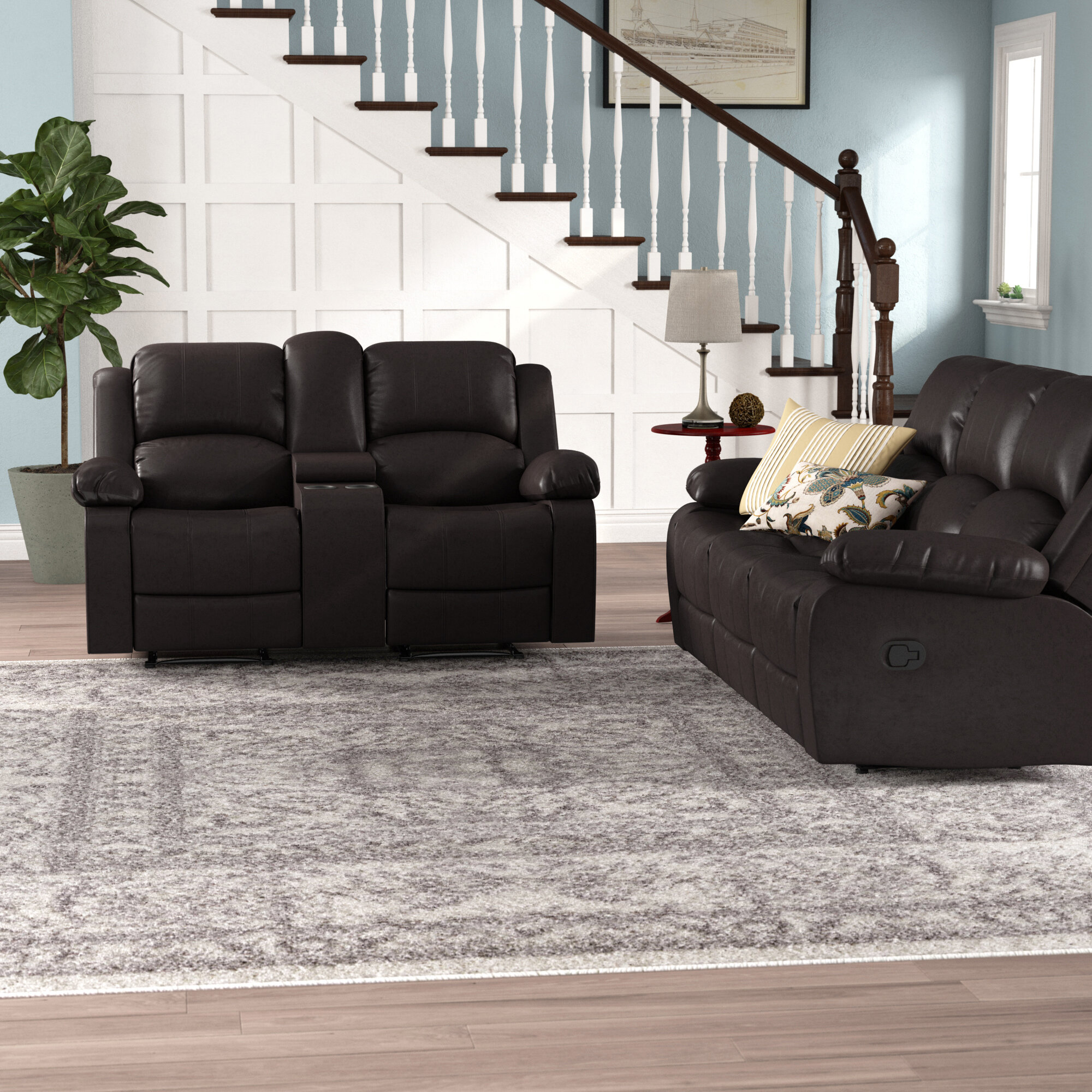 Red Barrel Studio Harton 2 Piece Faux Leather Reclining Living Room Set Reviews Wayfair