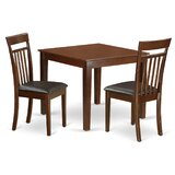 Cobleskill Faux Leather 3 Piece Dining Set by Alcott Hill®