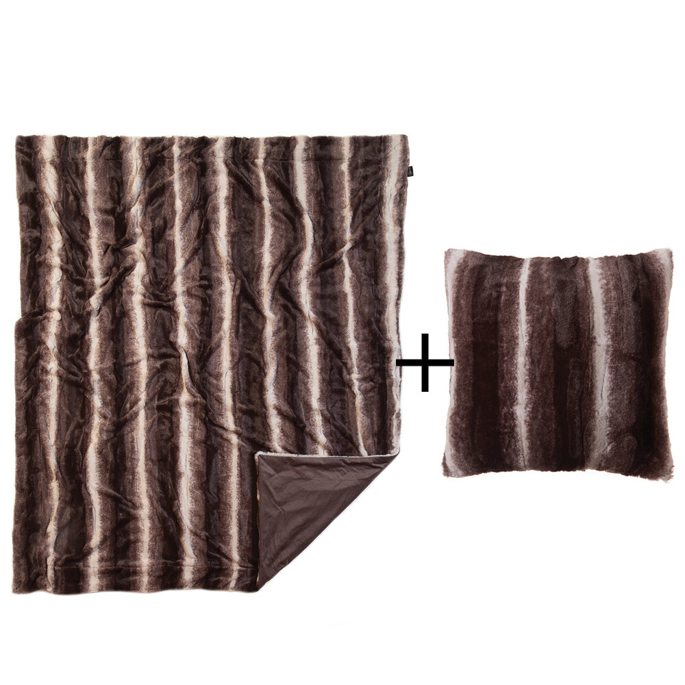 Millwood Pines Jonesboro Faux Fur Throw Wayfair