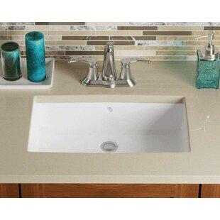 Comparison Vitreous China Rectangular Undermount Bathroom Sink ByPolaris Sinks