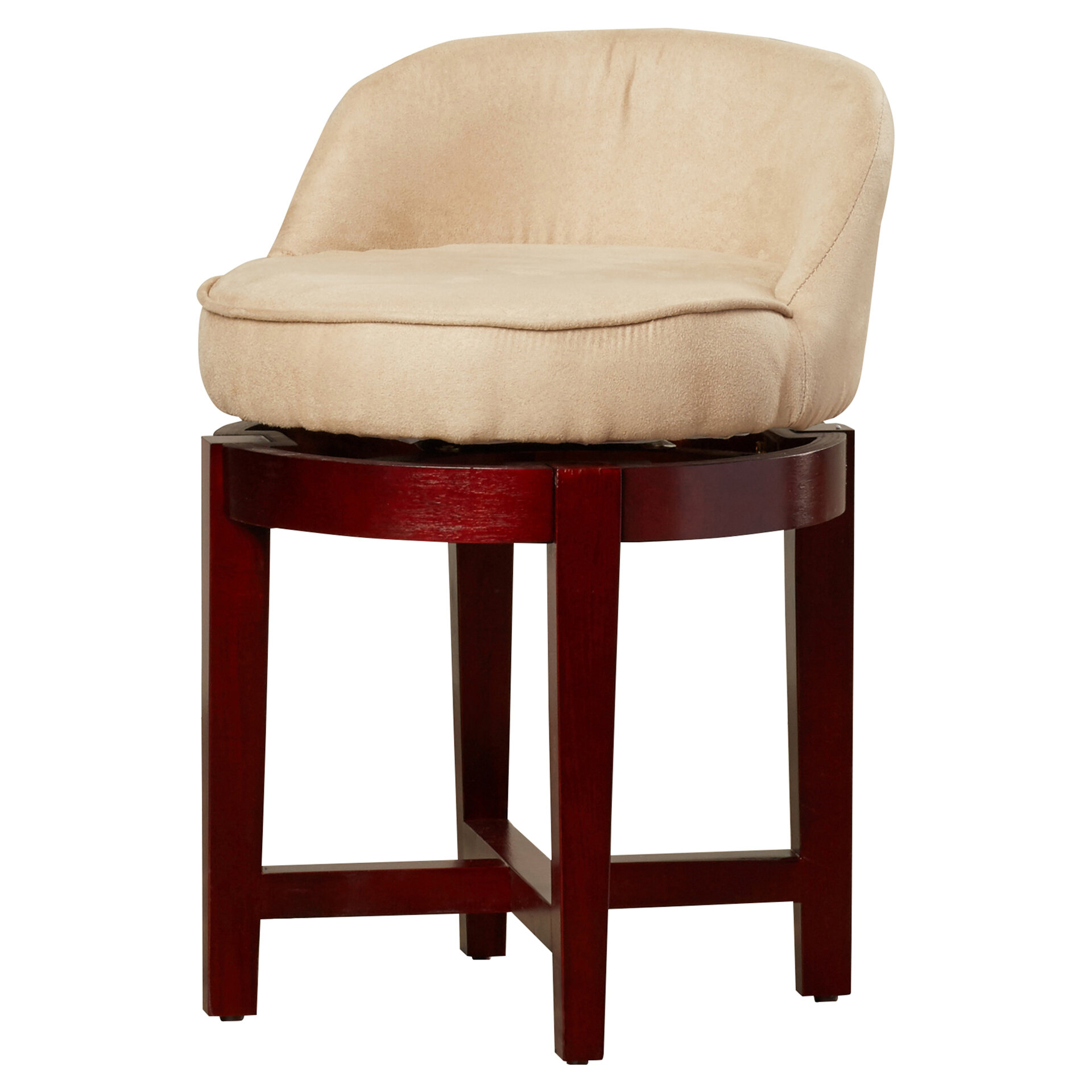 Awesome Stults Swivel Solid Wood Vanity Stool Andrewgaddart Wooden Chair Designs For Living Room Andrewgaddartcom