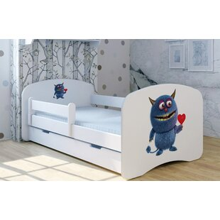 Blue Monster With Heart Bed With Mattress And Drawer By Zoomie Kids