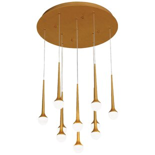 Corson Honey Drip 1-Light LED Cluster Pendant by Corrigan Studio