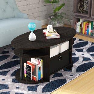 Ebern Designs Lansing Simple Design Coffee Table with Bin
