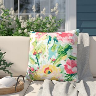 Amaris Watercolor Outdoor Throw Pillow (Set of 4)