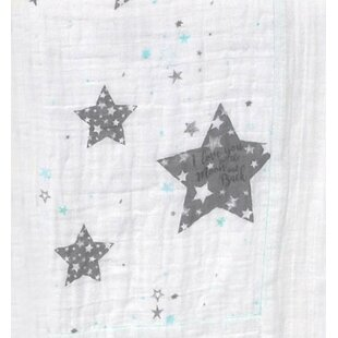 Stars Love You To The Moon Flat Crib Sheet By Blueberrie Kids