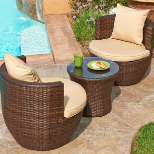 W Unlimited Sayan 3 Piece Conversation Set with Cushions