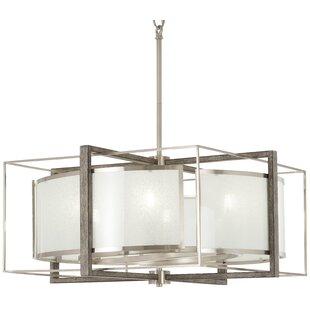 George Oliver Zaleski 6-Light Square/Rectangle Chandelier