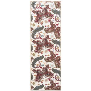 Sweet Home Butterfly Cream Area Rug