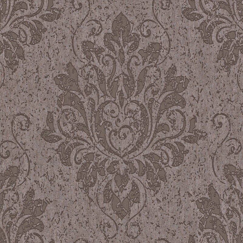 Liberty 33 X 208 Metallic Damask Wallpaper Roll