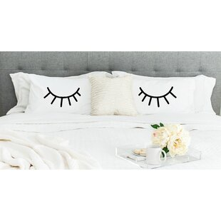 2 Piece Eyelashes Pillowcase Set
