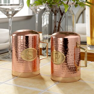 Delvecchio Hammered Copper Salt & Pepper Shakers by Birch Lane™ Heritage