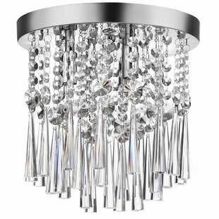 Willa Arlo Interiors Deverel 3-Light Crystal Flush Mount