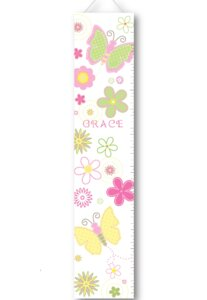 Pastel Butterflies Personalized Growth Charts