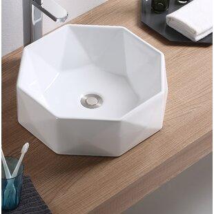 Vitreous China Specialty Vessel Bathroom Sink ByFine Fixtures