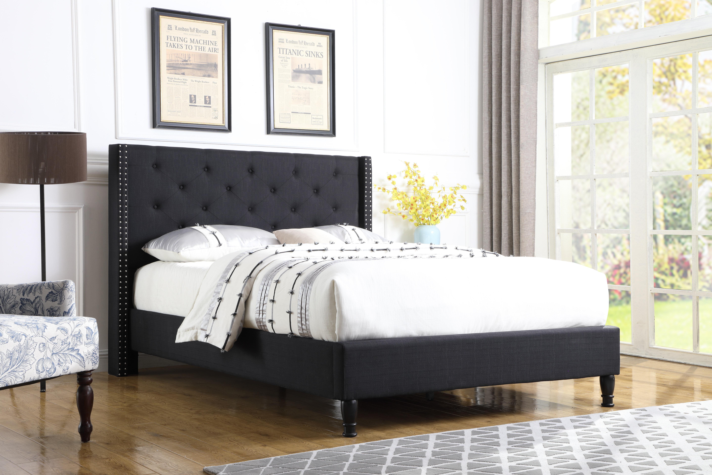 Mercer41 Boswell Tufted Upholstered Low Profile Platform Bed Reviews Wayfair