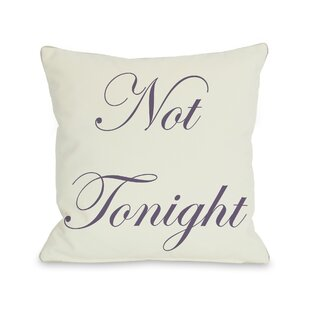 Tonight or Not Tonight Reversible Throw Pillow