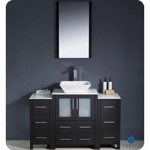 Compare Torino 48 Single Bathroom Vanity Set with Mirror ByFresca