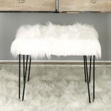 Lisdale Metal Fur Accent stool by Mercer41